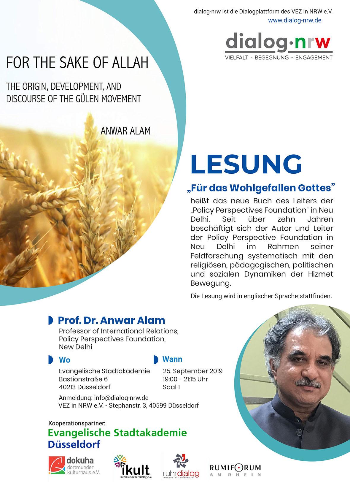 Lesung – For the sake of Allah
