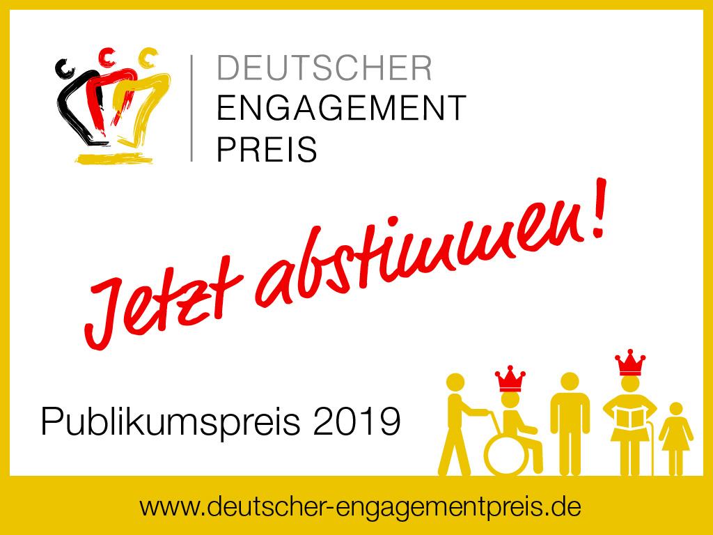 PRESSEMITTEILUNG – Preisträger des Verband engagierte Zivilgesellschaft in NRW e.V. im Rennen um den Deutschen Engagementpreis: Jetzt bis zum 24. Oktober abstimmen!
